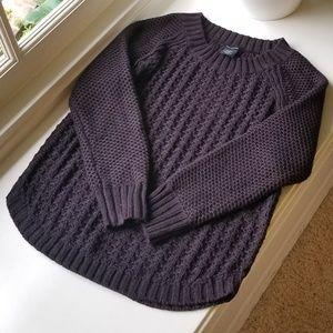 Knit black sweater size medium